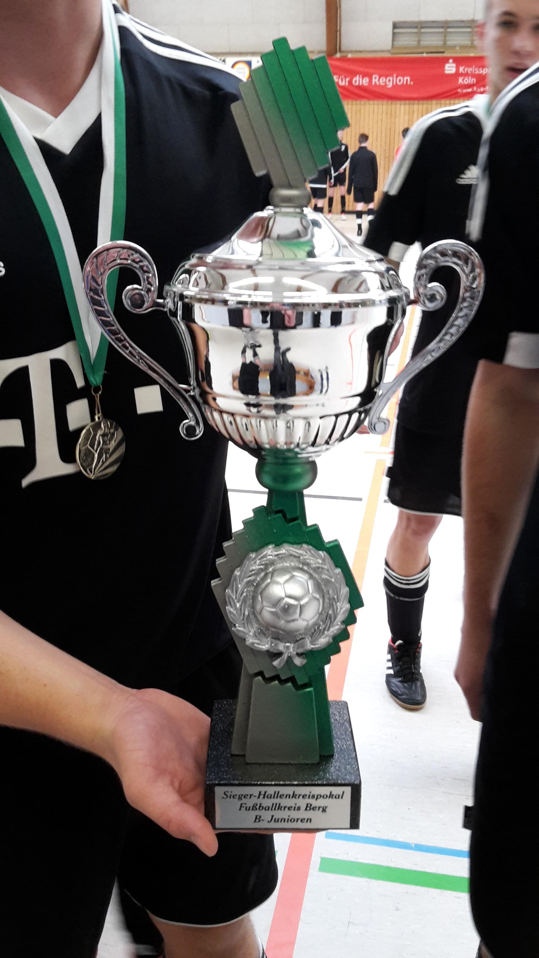 B1-Jugend gewinnt die Hallenkreismeisterschaft 2016 - Pokal